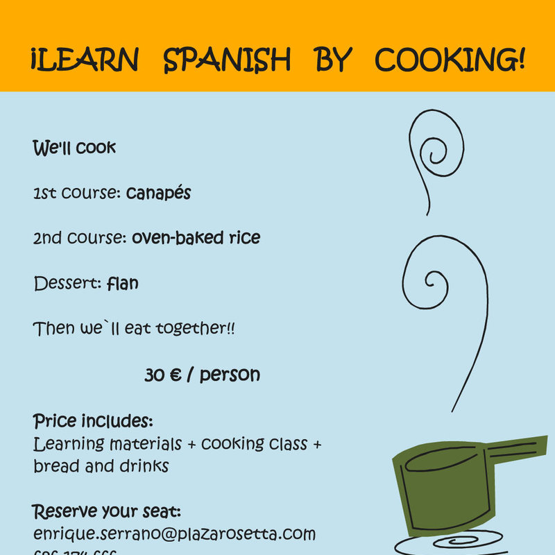 APRENDE ESPAÑOL COCINANDO (Learn Spanish by cooking) Foto